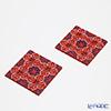 Images D'orient' Sejjadeh' Pink COA990042 Square Coaster 9x9cm (set of 2)