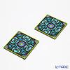 Images D'orient 'Nassij' Green & Purple COA990152 Square Coaster 9x9cm (set of 2)