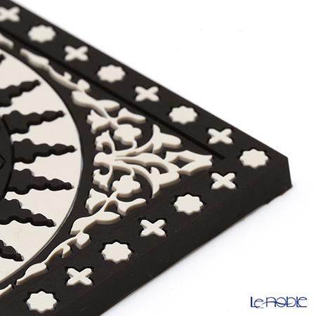 Images D'orient 'Mosaic' Black & White COA992062 Square Coaster 9x9cm (set of 2)