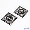 Images d'Orient Mosaic Black and White Coaster 9x9cm set of 2 COA992062