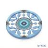 Images D'orient 'Sejjadeh - Azur' Blue BOT112031 Round Bottle Holder / Coaster 11cm