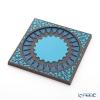 Images D'orient 'Mosaic' Blue BOT110071 Square Bottle Holder / Coaster 11x11cm