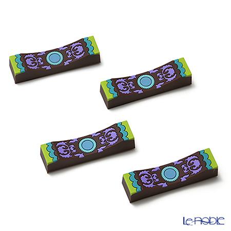 イマージュ・ドゥ・オリエント ナッシジュ ナイフレスト 緑×紫 4個セット CTH140104
