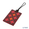 Images D'orient 'Sejjadeh - Grenat' Red LUG340051 Luggage Tag 10x5.5cm