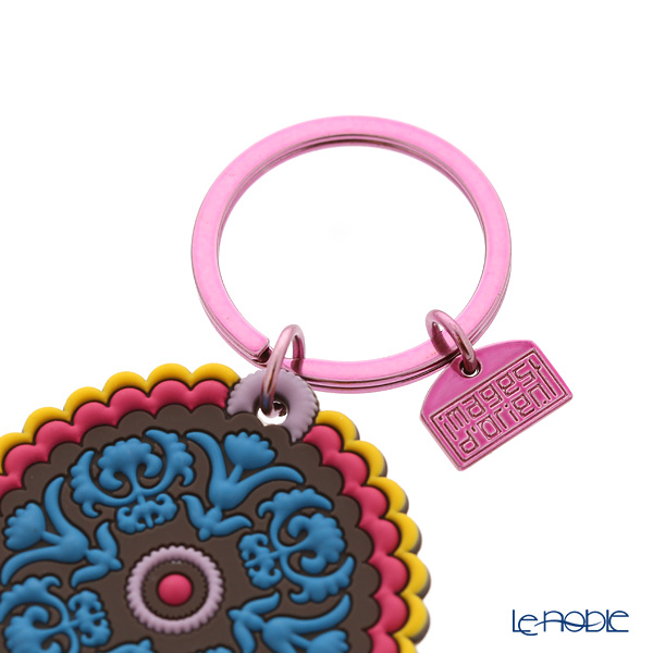 Images D'orient 'Nassij' Blue & Black KEY300107 Round Keychain 5cm