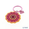 Images D'orient 'Henne' Pink & Yellow KEY300108 Round Keychain 5.5cm
