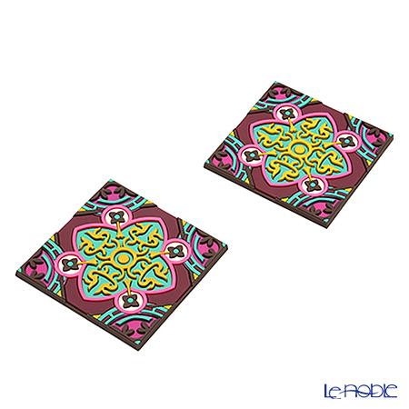 イマージュ・ドゥ・オリエント セジャデ コースター 黄色×ピンク 2枚セット COA990102