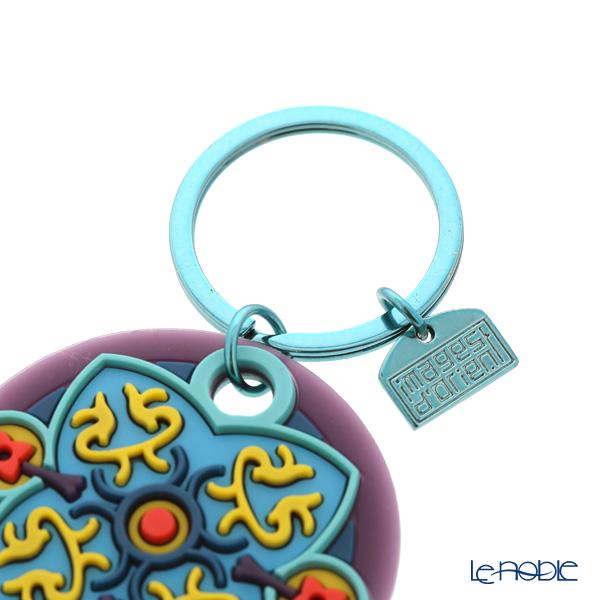 Images D'orient 'Sky' Turquoise Blue & Purple KEY300120 Round Keychain 5.5cm