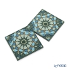 Images D'orient 'Andalusia' Green COA990202 Square Coaster 9x9cm (set of 2)