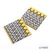Images D'orient 'Safra' Black & Yellow COA990222 Square Coaster 9x9cm (set of 2)