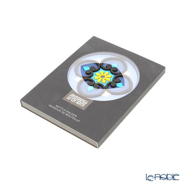 Images D'orient 'Sejjadeh - Ocean' Blue BOT110241 Round Bottle Holder / Coaster 11cm