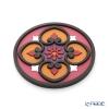 Images D'orient 'Sejjadeh - Sol' Orange & Pink BOT110251 Round Bottle Holder / Coaster 11cm