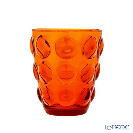 イタレッセ ガラスタンブラー ボッレ オレンジ 340cc ガラス製