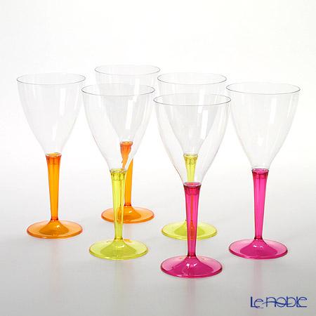 モザイク MZCLRYO ワイングラス 200ml カラーステム 6ピースセット