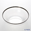 Mosaic large bowl MZB27CL Clear silver rim 27 cm