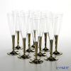 Mosaic MZCFGO Champagne glass 125 ml 10 piece set Gold Stem