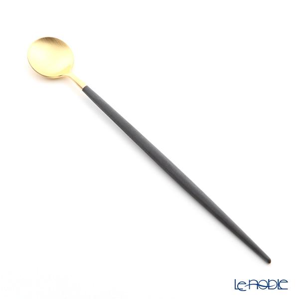 クチポール ゴア GOA ブラック/ゴールド ロングドリンクスプーン 21cm マット仕上げ