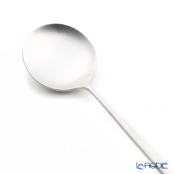 Cutipol 'MOON' Matte finish Silver Serving Spoon 23cm
