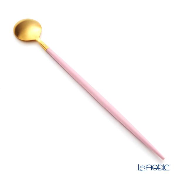 Cutipol 'GOA' Pink & Matte finish Gold Long Drink Spoon 21cm