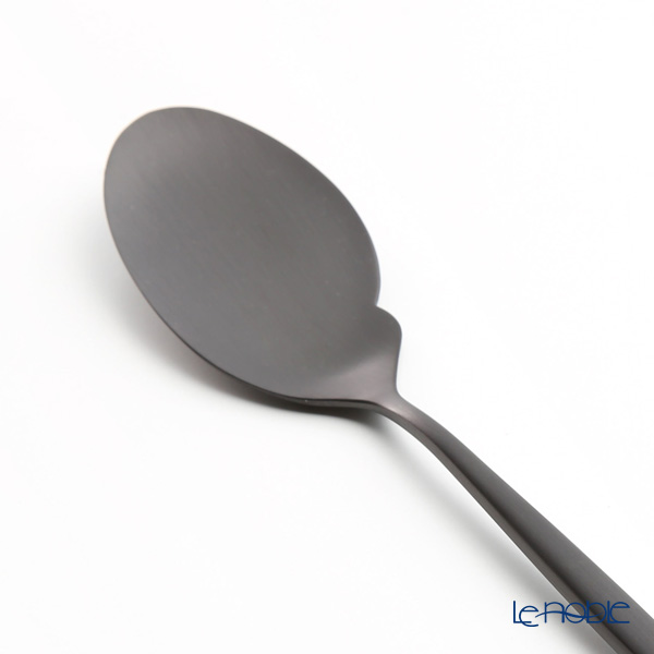 Cutipol MOON Matte finish Black Gourmet Spoon 22 cm