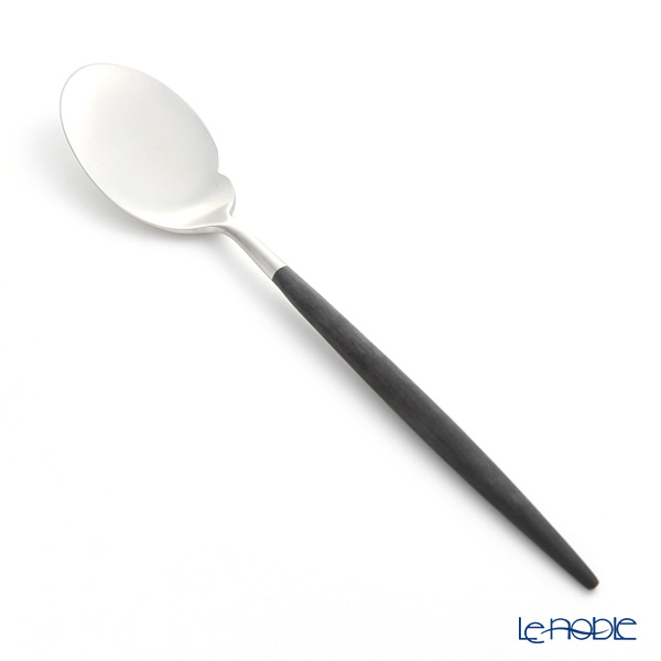 Cutipol GOA Black & Matte finish Silver Gourmet Spoon 22cm