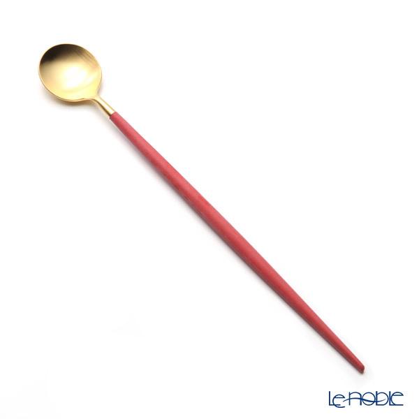 クチポール ゴア GOA レッド/ゴールド マット仕上げ ロングドリンクスプーン 21cm