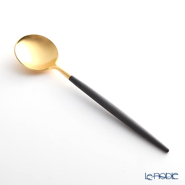 クチポール ゴア GOA ブラック/ゴールド デザートスプーン 18cm マット仕上げ