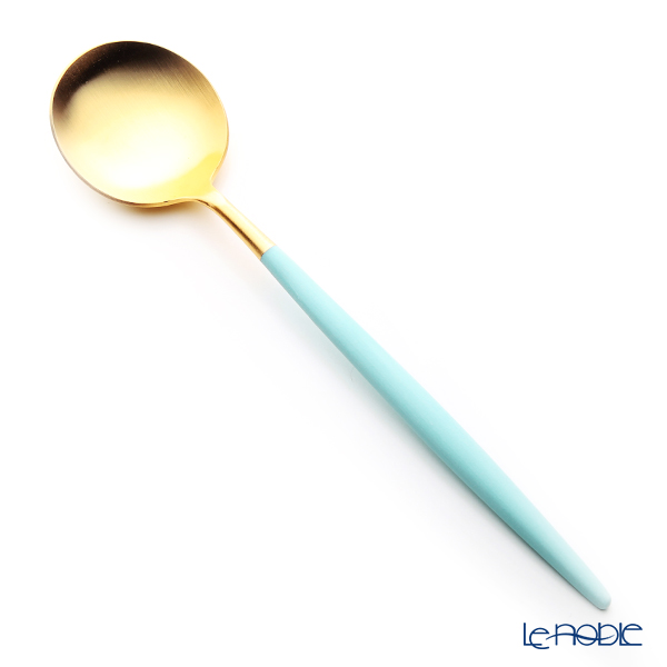 Cutipol 'GOA' Turquoise Blue & Matte finish Gold Table Spoon 21cm