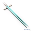 Cutipol 'GOA' Turquoise Blue & Matte finish Silver Chopsticks 22.5cm & Chopstick Rest