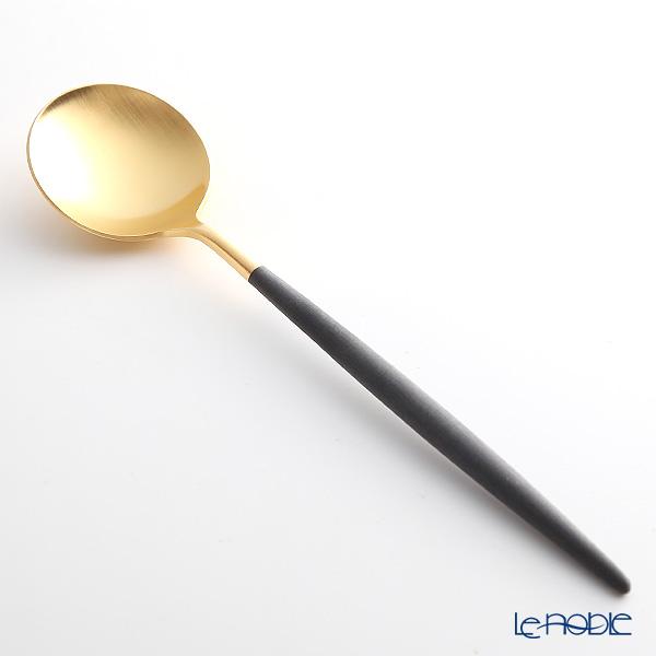 クチポール ゴア GOA ブラック/ゴールド テーブルスプーン 21cm マット仕上げ