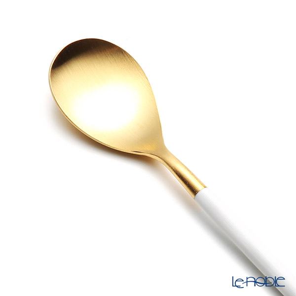 Cutipol 'MIO' White & Matte finish Gold Coffee / Tea Spoon 13.5cm
