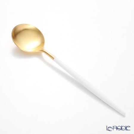 クチポール ゴア GOA ホワイト/ゴールド テーブルスプーン 21cm マット仕上げ