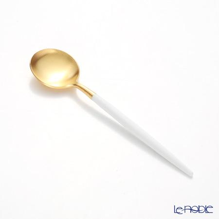 クチポール ゴア GOA ホワイト/ゴールド コーヒー/ティースプーン 13cm マット仕上げ