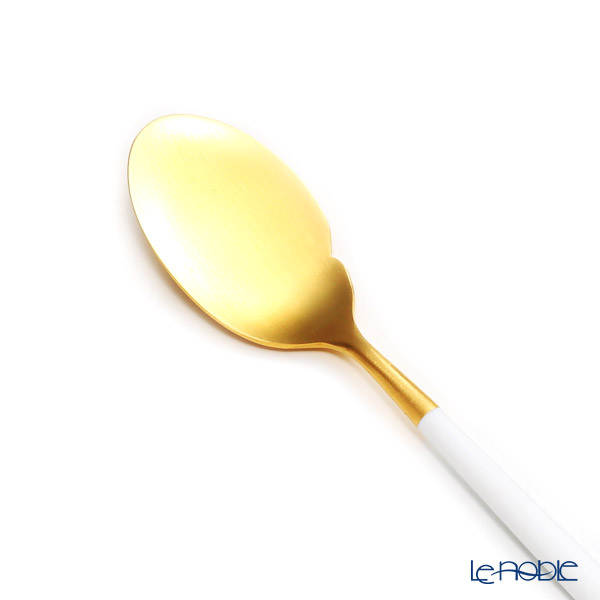 Cutipol 'GOA' White & Matte finish Gold Gourmet Spoon 22.5cm