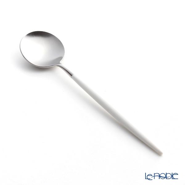 クチポール ゴア GOA ホワイト/シルバー デザートスプーン 18cm マット仕上げ