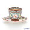 Pinsuwan Benjarong Benjamas Flower Blue Free Cup (without Handle) & Saucer