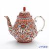 Pinsuwan Benjarong 'Benjamas Flower' White Red Tea Pot