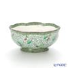 Pinsuwan Benjarong 'Bua Khio (Green Lotus)' Ruffle Bowl 23.5cm