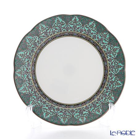 Pinsuwan Benjarong 'Sukhothai' Dark Green Plate 19.7cm