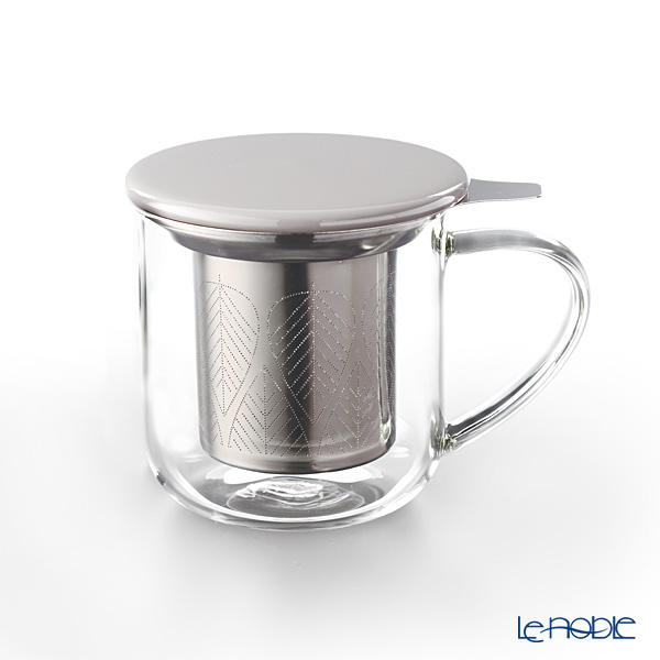 VIVA Scandinavia 'MINIMA' Wool Grey Eva Infuser Mug (with Tea Strainer & Lid) 450ml