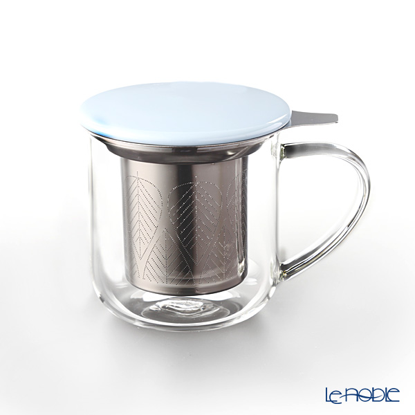 VIVA Scandinavia 'MINIMA' Hazy Blue Eva Infuser Mug (with Tea Strainer & Lid) 450ml
