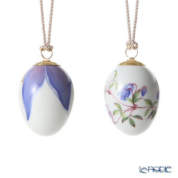 Royal Copenhagen Spring Collection Easter Egg 2 pcs - Clematis & Petals, H7cm 1027160 2019