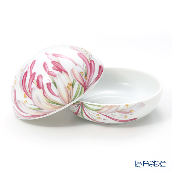 Royal Copenhagen 'Spring Collection' Caprifolium 2019 Round Box / Bonbonniere 10cm 1027163
