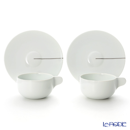 Georg Jensen Tea with Georg Tea cup with saucer, large, 2 pcs. 3583594