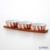 Katherine Holm stripe Bowl 10 cm Orange 3 pieces