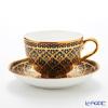 Buran Benjarong 'Phum Kaw Bin (Ear of Rice)' Tea Cup & Saucer