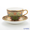 Benjarong ware Manufactory Blanc bless train Tea Cup & Saucer