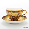 Benjarong ware Manufactory Blanc picoulflower yellow Tea Cup & Saucer