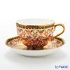 Buran Benjarong 'Buo Jud Tong (Lotus Flower)' Multi Color Tea Cup & Saucer