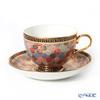 Buran Benjarong 'Pikhun khantou Flower' Tea Cup & Saucer